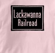Lackawanna Railroad T Shirt Vintage PINK Train T Shirt Vintage T Shirt