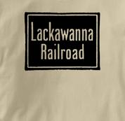 Lackawanna Railroad T Shirt Vintage TAN Train T Shirt Vintage T Shirt
