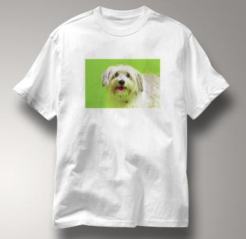 Maltese T Shirt Portrait WHITE Dog T Shirt Portrait T Shirt