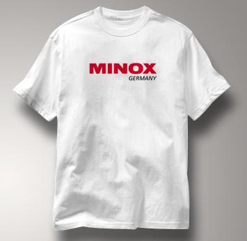 Minox Camera T Shirt Vintage Logo WHITE Vintage Logo T Shirt