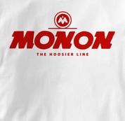 Monon T Shirt Hoosier Line WHITE Railroad T Shirt Train T Shirt Hoosier Line T Shirt