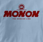 Monon T Shirt Hoosier Line BLUE Railroad T Shirt Train T Shirt Hoosier Line T Shirt