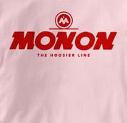 Monon T Shirt Hoosier Line PINK Railroad T Shirt Train T Shirt Hoosier Line T Shirt