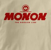 Monon T Shirt Hoosier Line TAN Railroad T Shirt Train T Shirt Hoosier Line T Shirt