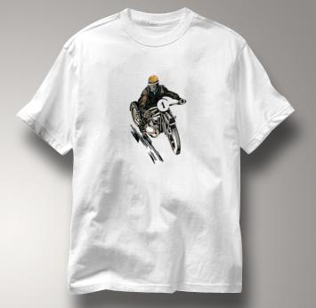 Motorcycle T Shirt Motor Guy 1 WHITE Cycling T Shirt Motor Guy 1 T Shirt