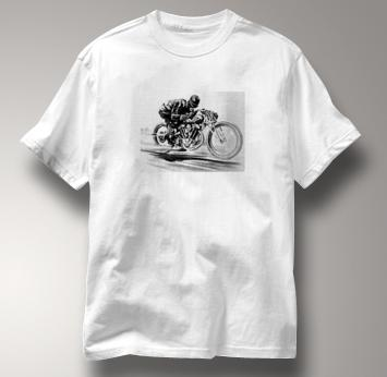 Motorcycle T Shirt Motor Guy 2 WHITE Cycling T Shirt Motor Guy 2 T Shirt