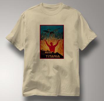 Bicycle T Shirt Motos Titania TAN Cycling T Shirt Motos Titania T Shirt