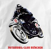 Motorcycle T Shirt Club Munich WHITE Cycling T Shirt Club Munich T Shirt