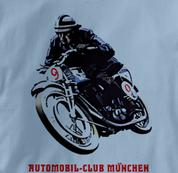Motorcycle T Shirt Club Munich BLUE Cycling T Shirt Club Munich T Shirt