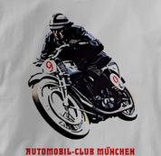 Motorcycle T Shirt Club Munich GRAY Cycling T Shirt Club Munich T Shirt