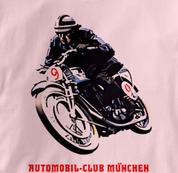 Motorcycle T Shirt Club Munich PINK Cycling T Shirt Club Munich T Shirt