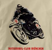 Motorcycle T Shirt Club Munich TAN Cycling T Shirt Club Munich T Shirt