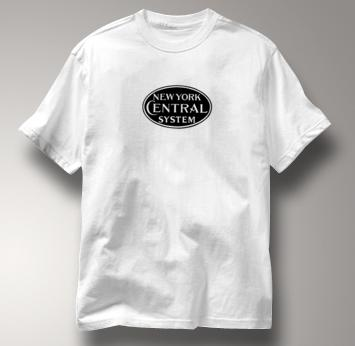 New York Central Lines T Shirt System WHITE Railroad T Shirt Train T Shirt System T Shirt