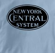 New York Central Lines T Shirt System BLUE Railroad T Shirt Train T Shirt System T Shirt