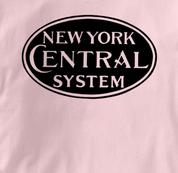 New York Central Lines T Shirt System PINK Railroad T Shirt Train T Shirt System T Shirt