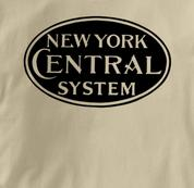 New York Central Lines T Shirt System TAN Railroad T Shirt Train T Shirt System T Shirt
