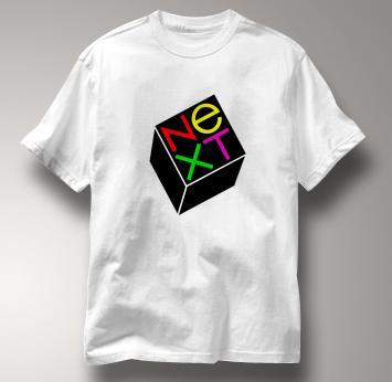 Next Computer T Shirt Vintage Logo WHITE Vintage Logo T Shirt Geek T Shirt