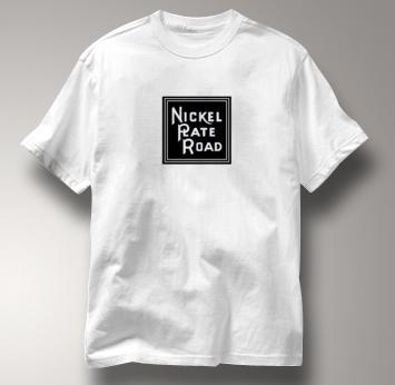 Nickel Plate Road T Shirt Vintage Logo WHITE Railroad T Shirt Train T Shirt Vintage Logo T Shirt