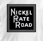 Nickel Plate Road T Shirt Vintage Logo WHITE Railroad T Shirt Train T Shirt Vintage Logo T Shirt
