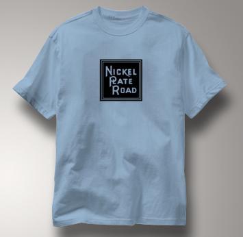 Nickel Plate Road T Shirt Vintage Logo BLUE Railroad T Shirt Train T Shirt Vintage Logo T Shirt