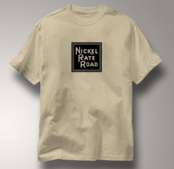 Nickel Plate Road T Shirt Vintage Logo TAN Railroad T Shirt Train T Shirt Vintage Logo T Shirt
