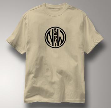 Norfolk & Western T Shirt Vintage N&W TAN Railroad T Shirt Train T Shirt Vintage N&W T Shirt