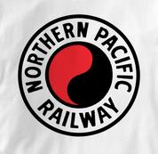 Northern Pacific Railway T Shirt Logo WHITE Railroad T Shirt Train T Shirt Logo T Shirt