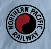 Northern Pacific Railway T Shirt Logo BLUE Railroad T Shirt Train T Shirt Logo T Shirt