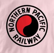 Northern Pacific Railway T Shirt Logo PINK Railroad T Shirt Train T Shirt Logo T Shirt