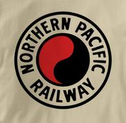 Northern Pacific Railway T Shirt Logo TAN Railroad T Shirt Train T Shirt Logo T Shirt