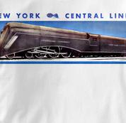 New York Central Lines T Shirt Commodore Vanderbilt WHITE Railroad T Shirt Train T Shirt Commodore Vanderbilt T Shirt