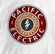 Pacific Electric Railway T Shirt Vintage WHITE Railroad T Shirt Train T Shirt Vintage T Shirt