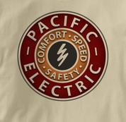 Pacific Electric Railway T Shirt Vintage TAN Railroad T Shirt Train T Shirt Vintage T Shirt