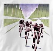 Bicycle T Shirt Paris Soir WHITE Cycling T Shirt Paris Soir T Shirt