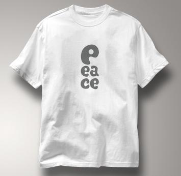 Peace T Shirt P EA CE WHITE P EA CE T Shirt