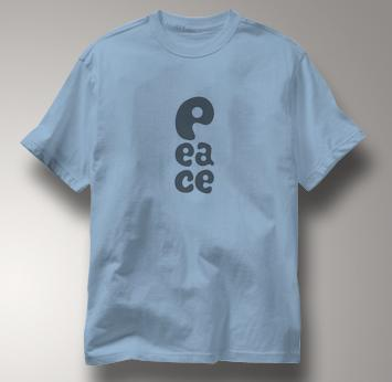 Peace T Shirt P EA CE BLUE P EA CE T Shirt