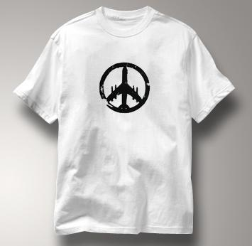 Peace Plane T Shirt WHITE Peace T Shirt