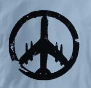Peace Plane T Shirt BLUE Peace T Shirt