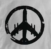 Peace Plane T Shirt GRAY Peace T Shirt