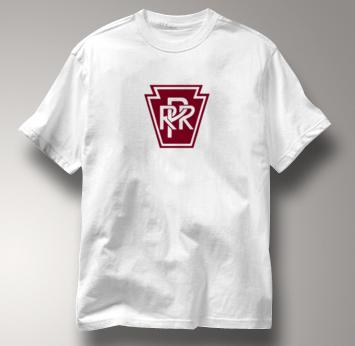Pennsylvania Railroad T Shirt Railway Logo WHITE Train T Shirt Railway Logo T Shirt