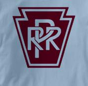 Pennsylvania Railroad T Shirt Railway Logo BLUE Train T Shirt Railway Logo T Shirt