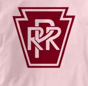 Pennsylvania Railroad T Shirt Railway Logo PINK Train T Shirt Railway Logo T Shirt