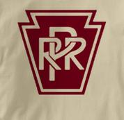 Pennsylvania Railroad T Shirt Railway Logo TAN Train T Shirt Railway Logo T Shirt