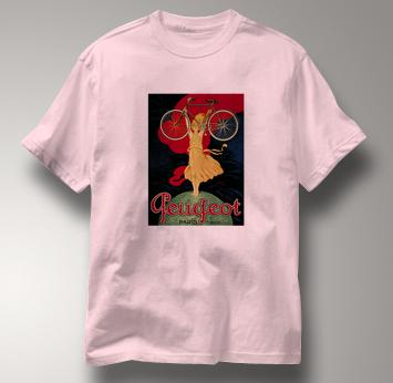 Bicycle T Shirt Peugeot PINK Cycling T Shirt Peugeot T Shirt