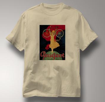 Bicycle T Shirt Peugeot TAN Cycling T Shirt Peugeot T Shirt