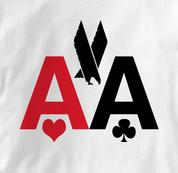 Poker T Shirt American Airlines AA WHITE Texas Holdem T Shirt American Airlines AA T Shirt