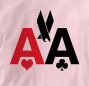 Poker T Shirt American Airlines AA PINK Texas Holdem T Shirt American Airlines AA T Shirt