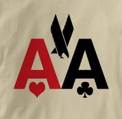 Poker T Shirt American Airlines AA TAN Texas Holdem T Shirt American Airlines AA T Shirt