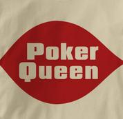 Poker T Shirt Poker Queen TAN Texas Holdem T Shirt Poker Queen T Shirt
