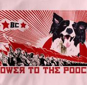 Border Collie T Shirt Power to the Pooch PINK Dog T Shirt Power to the Pooch T Shirt